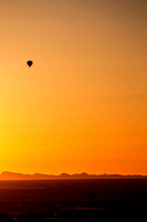 Couple Hot Air Balloons at Sunset