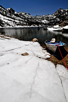 Boat on Lake Sabrina